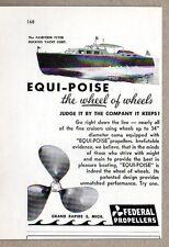 1953 Print Ad Federal Propellers Huckins Fairform Flyer Grand Rapids,MI