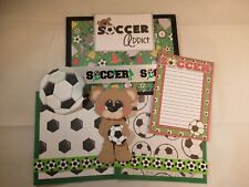 SOCCER  3D PAPER PIECING  SCRAPBOOK PAGE MAT SET