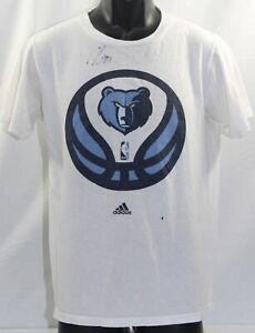 Memphis Grizzlies T Shirt Autographed by Marc Gasol Adidas Go To Tee Size Medium