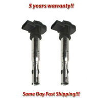 Ignition Coil Set 2PCS. for Audi A3 A4 A5 A6 Q3 Q5 TT/ VW Beetle Golf Jetta CC