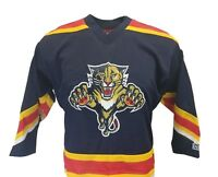 Florida Panthers NHL Youth Navy Blue CCM Team Hockey Jersey, nwt