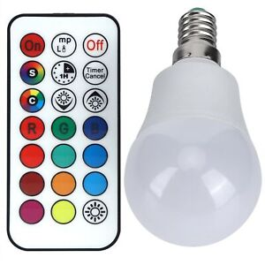 45W LED RGB Bulb Light Colorful Changeable Remote Control Lamp Decor Practical