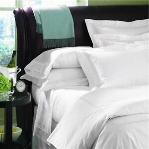 Sferra Grande Hotel Queen White Percale Quilt Cover Set. Queen - Made in Italy