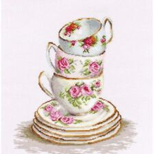 Cross Stitch Kit Tea cups Luca-S Point de croix Punto de cruz