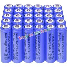 30x AA battery batteries Bulk Nickel Hydride Rechargeable NI-MH 3000mAh 1.2V Blu