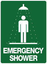"""Safety Sign """"EMERGENCY SHOWER  5mm corflute 300MM X 225MM"""""""