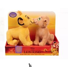 Disney Lion King Plush Kissing Simba & Nala Brand New