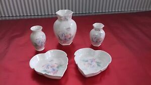 REDUCED- AYNSLEY - COLLECTION OF 5 AYNSLEY LITTLE SWEETHEART OF FINE BONE CHINA