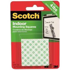 3M Scotch Precut Foam Mounting Squares Heavy Duty, 1 Inch, 16 Count