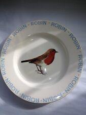 "EMMA BRIDGEWATER, ORIGINAL ""ROBIN"", 8 1/2 inch side plate, BN, RARE"