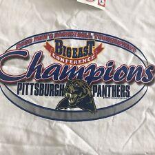 Vtg Pittsburgh Pitt Panthers 2003 Basketball Big East Champions T Shirt Xl Nwt