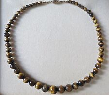 Tiger's Eye Beads Necklace 41 Grams 17.5 Inches