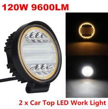 Universal 120W 9600LM LED Work Light Flood Beam Driving Fog Lamp DRL Angle Eye