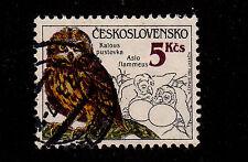 Czechoslovakia-1986-SC 2624-Used-Asio flammeus-Owl