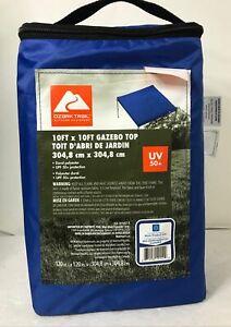 NEW Ozark Trail JCA-1010GT-B 10FT x 10FT Gazebo Top, UV 50+, Blue