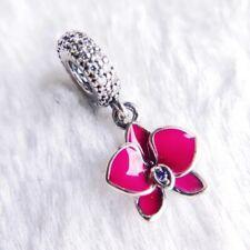 Authentic Pandora Orchid Purple Enamel CZ Charm #791554EN69