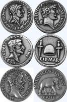 Cleopatra, Brutus, Marcus Aurelius, 3 Famous Roman Coins, Roman Empire (3ROME-S)
