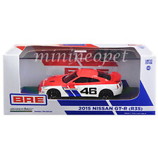 GREENLIGHT 51069 2015 NISSAN SKYLINE GT-R R35 BRE #46 1/43 MODEL CAR RED / WHITE