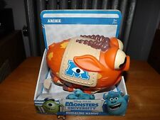 """MONSTERS UNIVERSITY, ARCHIE THE SQUEALING MASCOT, SQUEEZE HIM, 6.5"""" LONG, NIP"""