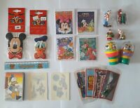 Disney Bundle Stickers Figurines Ruler Cards Mickey Donald