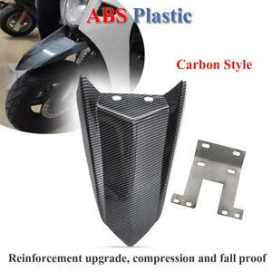 Plastic Front Wheel Mud Guard Fender Carbon Style Motorcycle Dirt Bike Mudguard