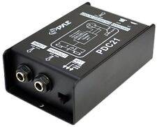 Direct DI Box Instrument to Balanced/Unbalanced 1/4in. XLR Audio Signal Passive