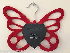Non slip rouge butterly écharpe ceinture collants titulaire tidy organisateur penderie cintre