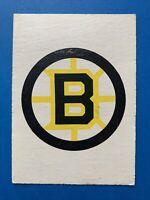 Boston Bruins 1977-78 O-Pee-Chee Hockey Card Logo OPC Team Record Card #323