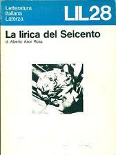 ASOR ROSA Alberto, La lirica del Seicento