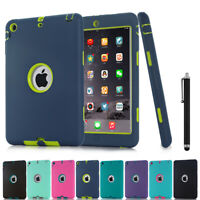 Shockproof Case Heavy Duty Rubber Cover For Apple iPad 6/5/4/3/2 Mini 1 2 3 Air