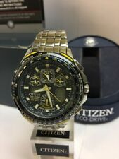 CITIZEN MEN'S Blue Angel SKYHAWK A-T ALARMS RADIO CONTROLLED ECO-DRIVE WATCH