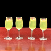 4Pcs 1:12 dollhouse miniature toy accessories juice cup champagne cup  MCMAEK