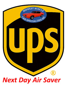 Midwest Muscle Car Specialties UPS Next Day Air Saver Guaranteed