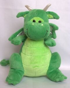 ToysRUS Toys R US Plush Green Dragon Draggie Stuffed Metallic Wings Retired HTF