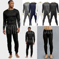 Mens 2 pc Thermal Underwear Set Long Johns Waffle Knit Top Bottom S M L XL 2X 3X