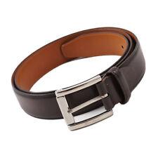 New $350 SANTONI Dark Brown Smooth Calf Belt One Size/Adjustable Strap