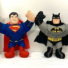 "Superman & Batman Stuffed Plush Figure 15"" — DC Comics Justice League Lot Set"