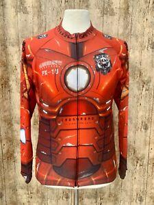 Men's Fix Gear Crossroad PX-16 Cycling Jersey Long Sleeve Full Zip Reds Size L