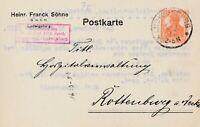 Postkarte Jahr 1917 verschickt von Ludwigsburg nach Rottenburg sehr interessant