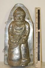 "Large Santa Clause tin chocolate mold ,12"", good condition, American, circa 1900"