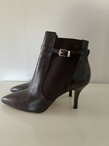 Michael Kors Brown Antonia Ankle Boots SIZE 4.5