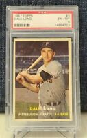 1957 Topps #3 - Dale Long - PSA 6 EX-MT - Pittsburgh Pirates