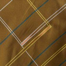 Brown Striped Half Ascot Cravat