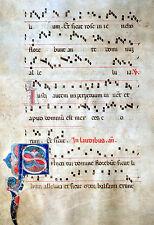 GOTHIC ANTIPHONAR MANUSCRIPT MINIATUR ORNAMENT INITIALE ITALIEN UMBRIEN 1450