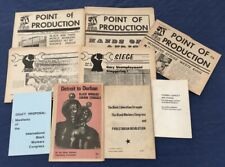 1971 Black Workers Congress Newspapers Siege & Point Of Production & Manifesto+