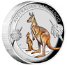 2020 First Australia Kangaroo 1oz $1 Silver Proof Colored High Relief Coin