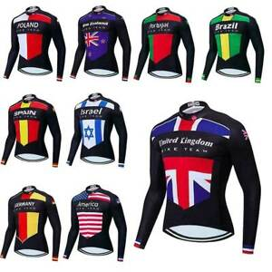 2021 Men's Long Sleeve Cycle Jersey Top Countries Team Cycling Jersey S-5XL
