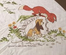 Disney The Fox And The Hound Twin Flat Sheet Vintage Dog Rare