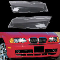 Left&Right Headlight Lens Polycarbonate Headlamp Covers For BMW E46 2002-2005 #C