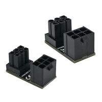 2x Desktops Graphics Card ATX 6 Pin Power Adapter 180 Degree Angled Connector